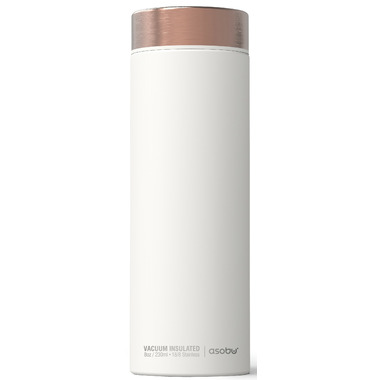 Asobu Le Baton Travel Bottle White Copper