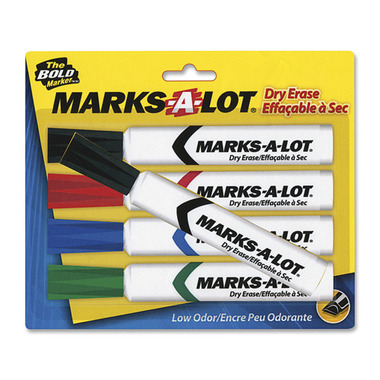 Avery Marks-A-Lot Dry-Erase Chisel Point Markers