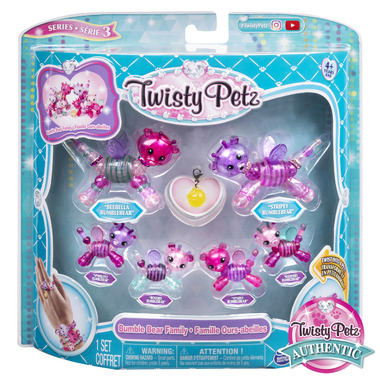 Twisty Petz Series 3 Bumble Bear Family Pack Collectible Bracelet Set