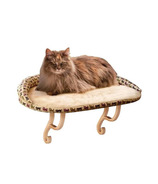 K&H Kitty Sill Deluxe with Bolster Tan Print