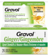 Gravol Natural Source Ginger Liquid Gel Capsules