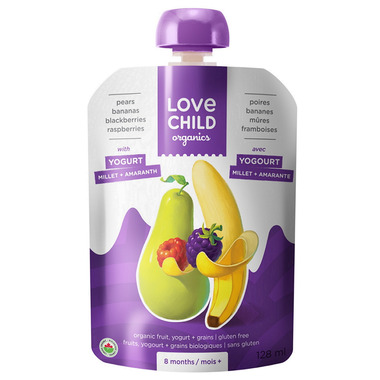 Love Child Organics Pouch Pears, Bananas, Raspberries & Blackberries