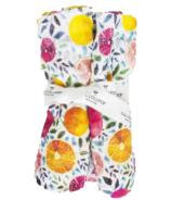 Loulou Lollipop Luxe Muslin Swaddle Blanket Summer Citrus