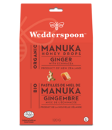 Wedderspoon Organic Manuka Honey Drops Ginger