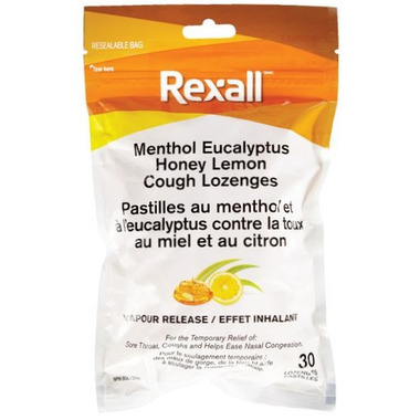 Rexall Menthol Eucalyptus Honey Lemon Cough Lozenge