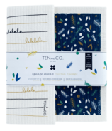 Ten & Co. Sponge Cloth Set Pine and Berry + Falala Gold and Black