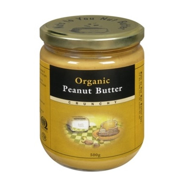 Nuts To You Organic Crunchy Peanut Butter