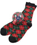 Little Blue House Men's Socks in Ornament Holiday Argyle
