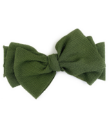 Baby Wisp Giant Lana Bow Headband Green