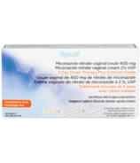 Rexall 3 Day Ovule Therapy + External Cream Combo Pack
