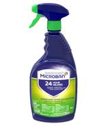 Microban 24 Hour Bathroom Cleaner and Sanitizing Spray Fresh Scent