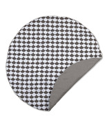 Lolli Living Round Play Mat Kayden Black Scallop