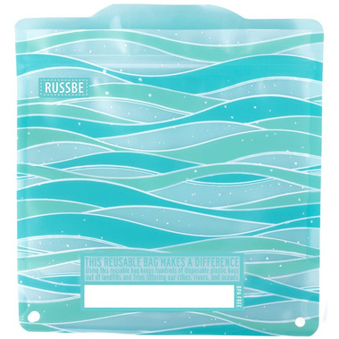 Russbe Reusable Snack and Sandwich Bags Waves