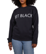 BRUNETTE The Label Jet Black Core Crew Charcoal