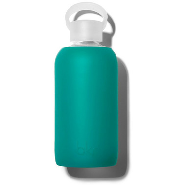 bkr Ivy Glass Water Bottle Sheer Ultramarine Blue-Green