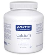 Pure Encapsulations Calcium avec Vitamine D3