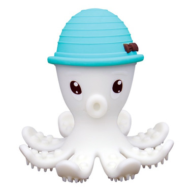 Mombella Octopus Gum Massager & Teether Toy Powder Blue