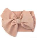 Baby Wisp Giant Lana Bow Headband Dusty Rose