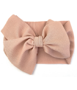 Baby Wisp Giant Lana Bow Headband Dusty Rose