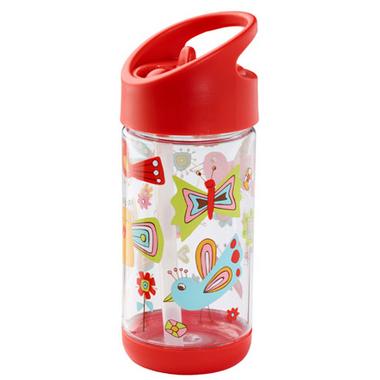 Sugarbooger Flip and Sip Clear Tritan Bottle Birds and Butterflies