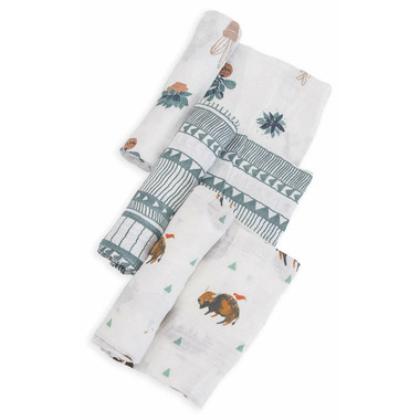 Little Unicorn Cotton Muslin Swaddle Set Bison