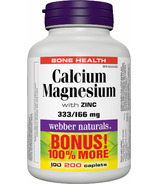 Webber Naturals Calcium Magnesium with Zinc Bonus Size