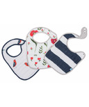 Little Unicorn Cotton Muslin Classic Bib Set Summer Poppy