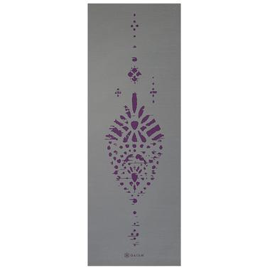 Gaiam Premium Reversible Print Yoga Mat 6 mm Plum Etching