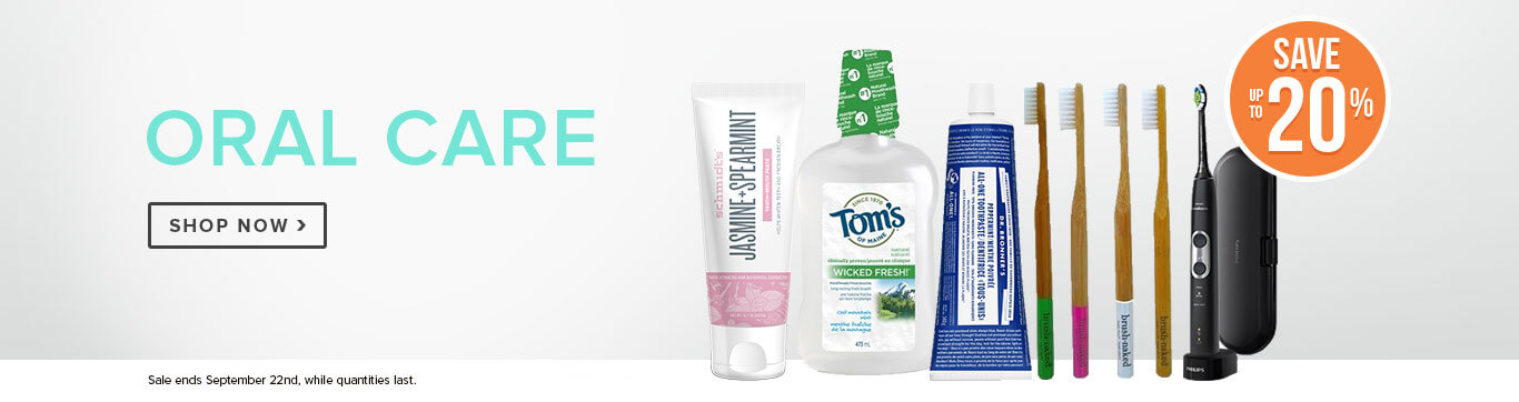 Save up to 20% off Oral Care