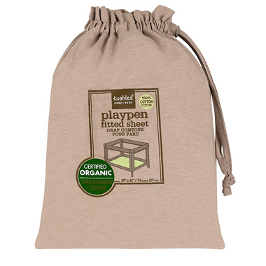 Kushies Organic Jersey Fitted Playpen Sheet