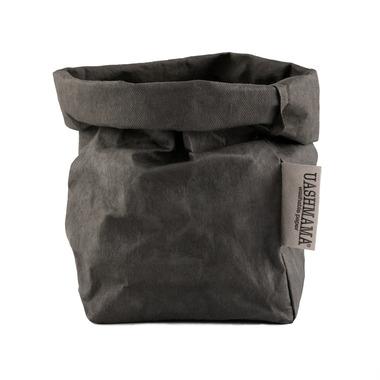 UASHMAMA Paper Bag Small Dark Grey