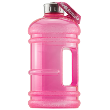 The Big Bottle Co Big Gloss Pink 2.2L Water Bottle