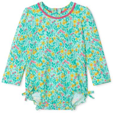 Hatley Summer Garden Baby Rashguard Swimsuit