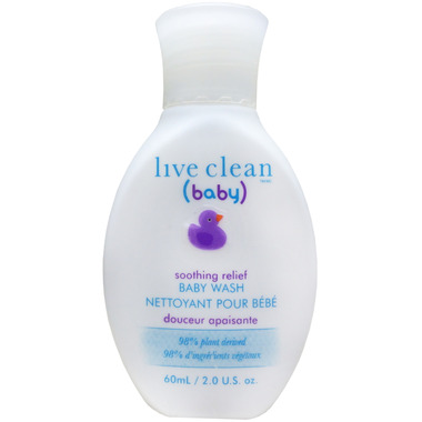 Live Clean Baby Soothing Relief Travel Size Baby Wash