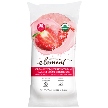 Element Snacks Organic Strawberries n\' Cream Dipped Rice Cakes