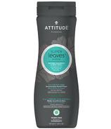 Shampoing et nettoyant naturel Super Leaves 2-en-1 pour le corps et le cuir chevelu pour hommes d'ATTITUDE