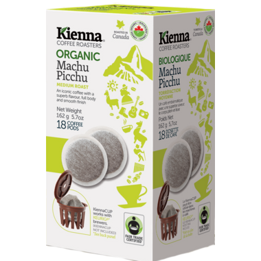 Kienna Coffee Roasters Machu Picchu Coffee Pods