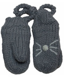 Calikids Iceland Acrylic Knit & Berber Mitten Grey