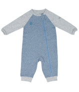 Juddlies Raglan Organic Playsuit Denim Blue