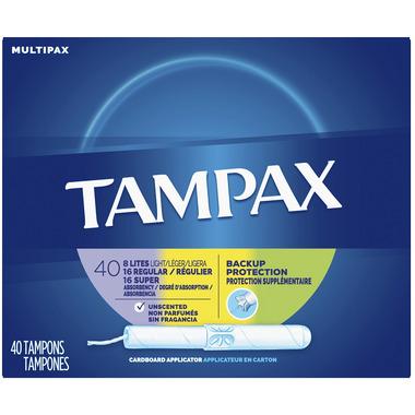 Tampax Carboard Applicator Tampons Multipack