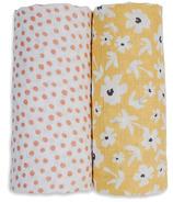 Lulujo Cotton Swaddles Wildflowers & Dots