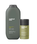 method Men Bergamot + Lime Aluminum Free Deodorant and Body Wash Bundle