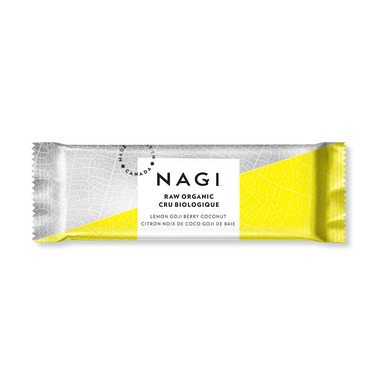 NAGI Organic Raw Energy Bar Lemon Goji Berry Coconut