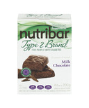 Nutribar Type 2 Brand Milk Chocolate Bars