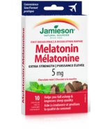 Jamieson Fast Dissolving Melatonin 5 mg Chocolate Flavour Travel Size