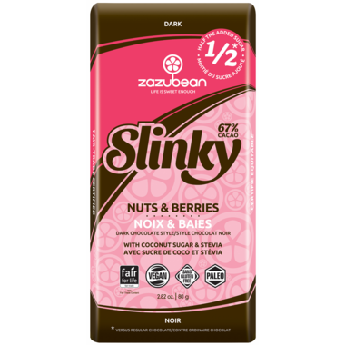 Zazubean Slinky Nuts and Berries Dark Chocolate