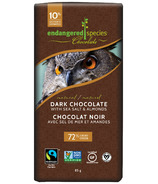 Endangered Species Dark Chocolate Bar with Sea Salt and Almonds