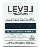 Level Naturals Soap Bar Tea Tree + Activated Charcoal