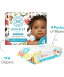 The Honest Company Into the Wild Print Diapers & Wipes Bundle Size 4