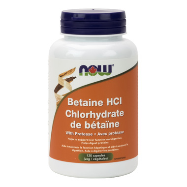 NOW Foods Betaine HCl With Protease